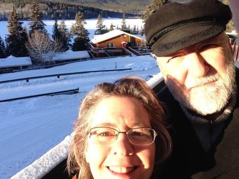 Christina and Ken at Pyramid Lake, Jasper