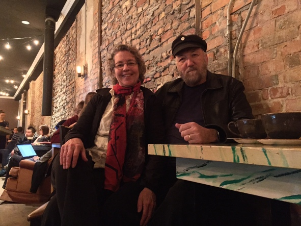 Christina and Ken enjoying a date night at Block 1912 on Whyte Ave. in Edmonton