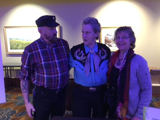 Left to Right, Ken Temple Grandin and Christina